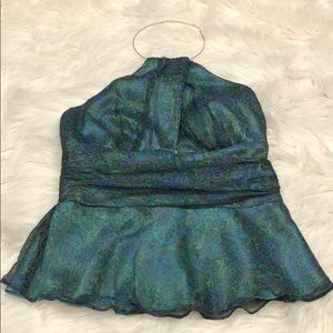 Laundry by Shelli Segal Silk Necklace Blouse Sz S
